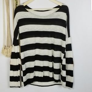 No brand Size S striped black and grey stripes Lon